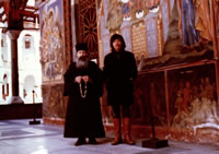 写真 ブルガリア・ソフィアの寺院にて